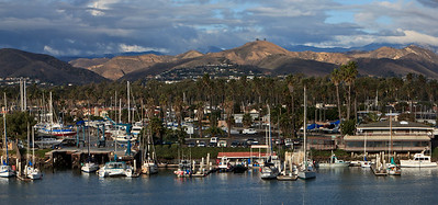 Ventura Marina with Two Trees Hill in background