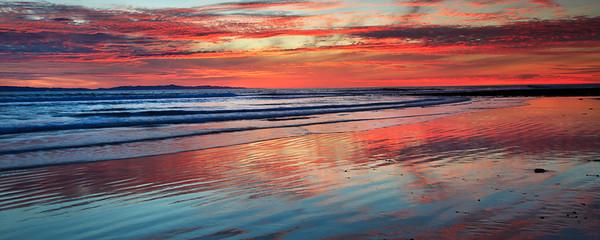 Sunset at a beach in Ventura, California