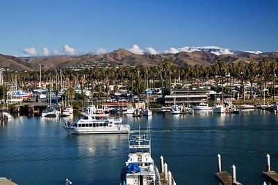 Ventura Marina with Island Packers boat