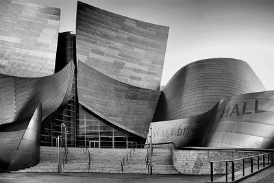 Walt Disney Music Hall converted to B/W using NIK Silver Efex