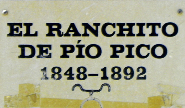 "Pio Pico bought the Rancho Paso de Bartolo after returning from Mexico in 1848. His affectionate name for it was ""El Ranchito"". The original 9,300 acres now comprise all of Pico Rivera and a portion of Whittier."