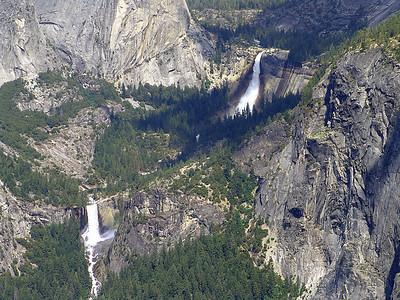 Nevada and Vernal Falls