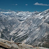 Tenaya Canyon and Clouds Rest - a view from the Half Dome