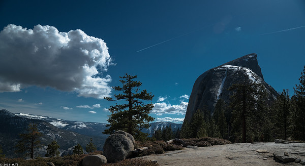 Half Dome  - a view from the trail