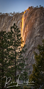 """Fire Fall"" on El Capitan"