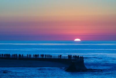 Sunset at La Jolla Pier