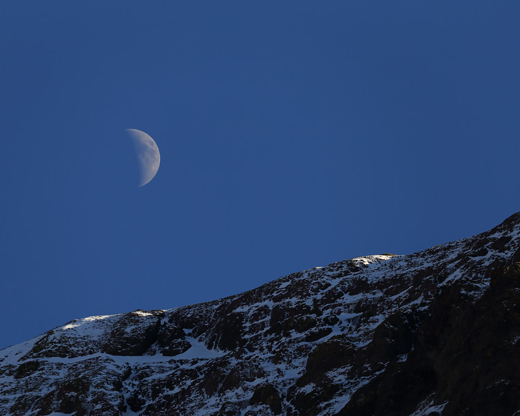 Moon and Night Cap Peak, Tuolumne County, CA