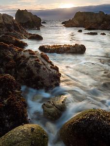 California Coastline Sunset, Pacific Grove, CA  (40105-07-10)