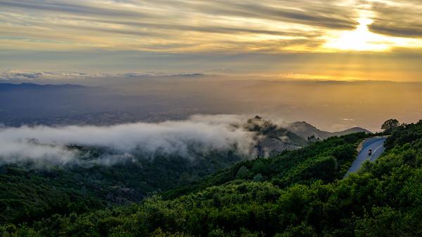 Rolling over Mt. Diablo Foothills
