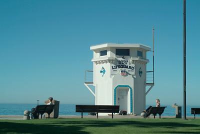 Ladies waiting for a lifeguard: Laguna Beach, California