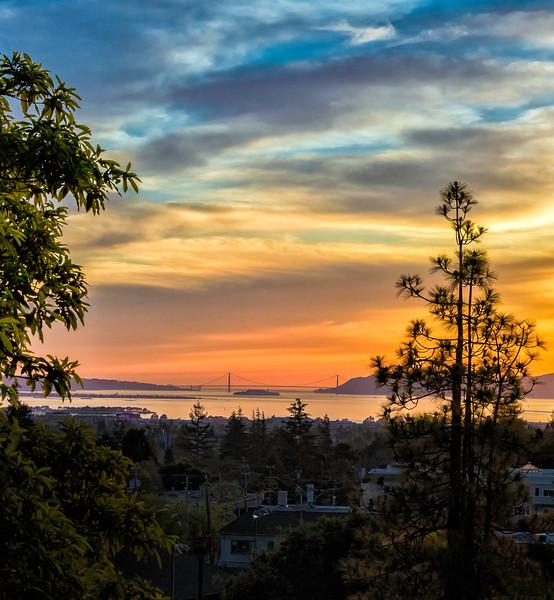 Golden Gate Bridge Viewed from Claremont Hotel