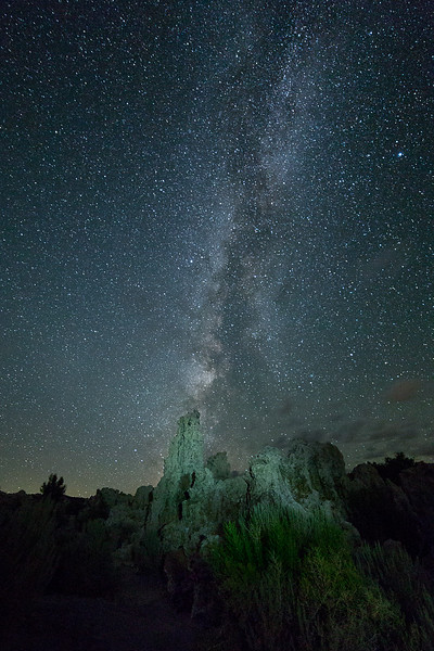 Milky Way and Tufa Towers, Mono County, CA