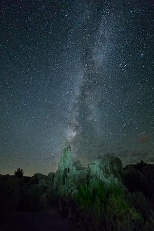 Milky Way and Tufa Towers, Mono County, CA