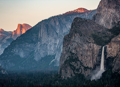 Tunnel View, Bridal Veil Falls, Half Dome