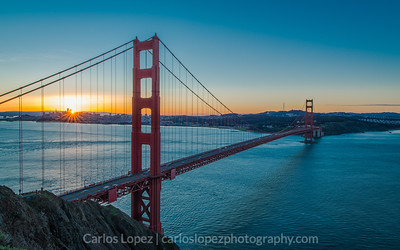 Flare over the Golden Gate Bridge