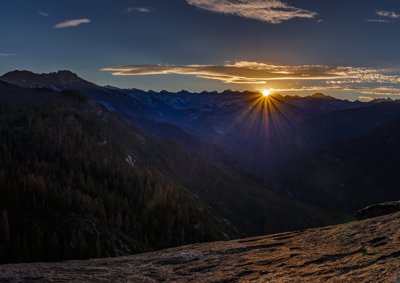 Sunrise above Western Divide