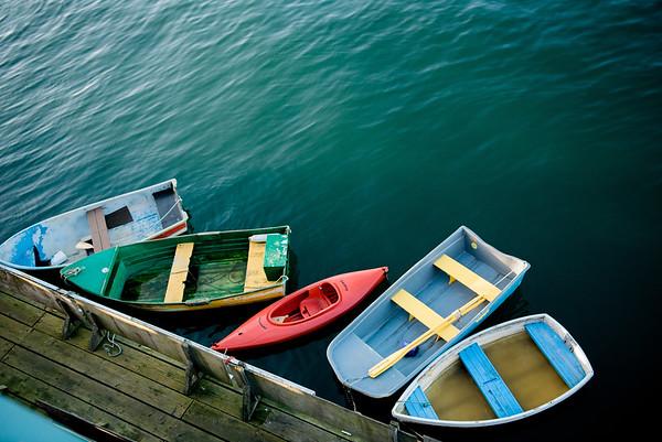 Boats at the Dock, Monterey, California