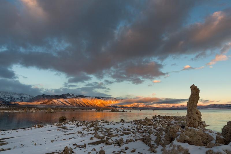 Sierra Nevada Sunrise and Tufa, Mono County, CA