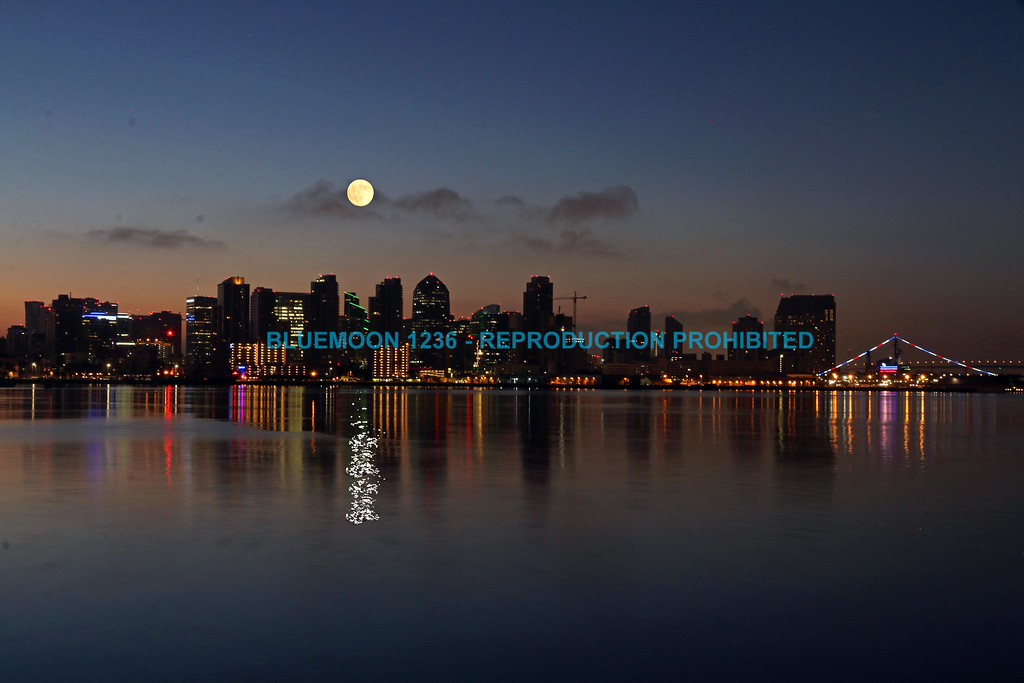 Moon Rising Over San Diego