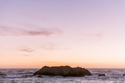 Sunset at Bird Rock, Monterey, California