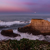 Moonset over Shark Fin Cove