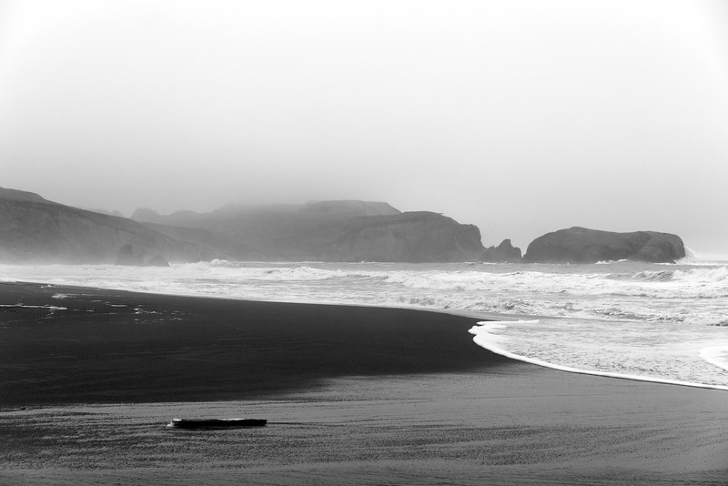 Rain and Fog, Rodeo Beach, Marin County, CA