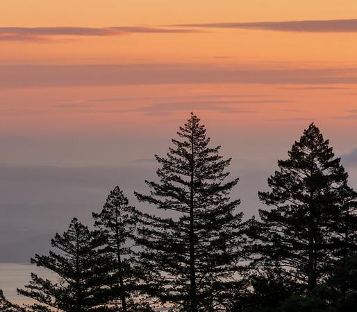 Sunrise over the Bay Area