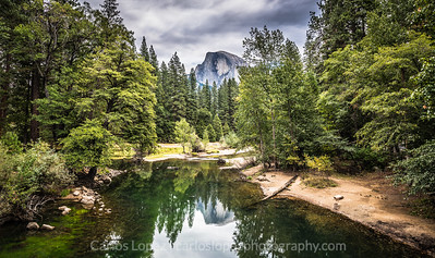Half dome, reflection