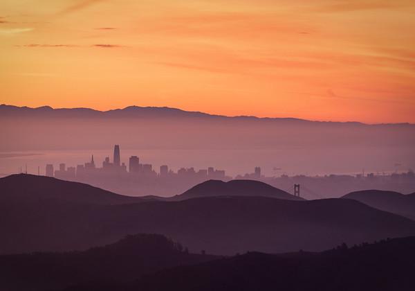 Sunrise Over the Bay, San Francisco