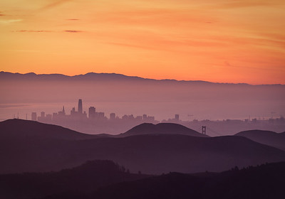 Sunrise Over the Bay, San Francisco