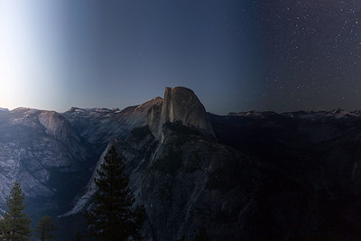 Time Passing Over Half Dome