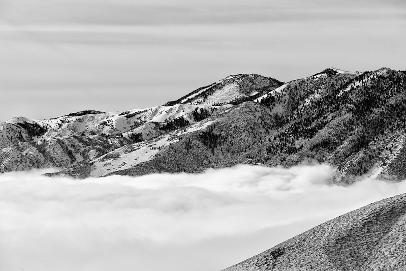 Clouds and Lee Vining Peak, Mono County, CA