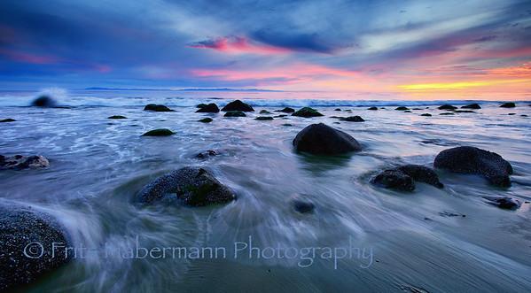 Winter Sunset over Santa Barbara