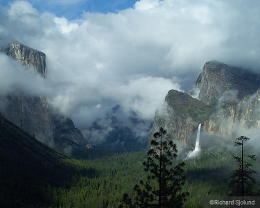 Clouds over Yosemite Valley in California