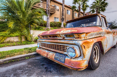 Rusty truck on the streets of San Diego
