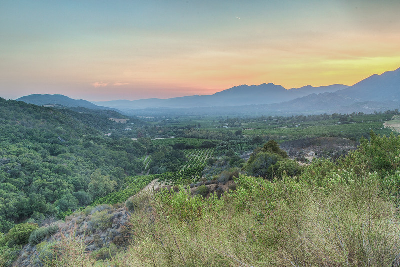 View of Ojai Valley from Meditation Mount, Ojai, California, USA