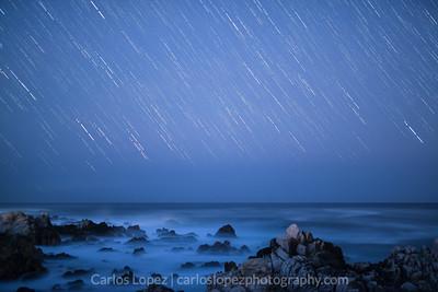 Stars over Carmel #2, California