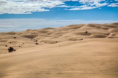 Sand Dunes in Winterhaven, California, USA