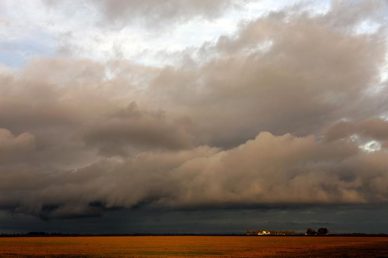 Winter Storm Clouds, San Joaquin County, CA
