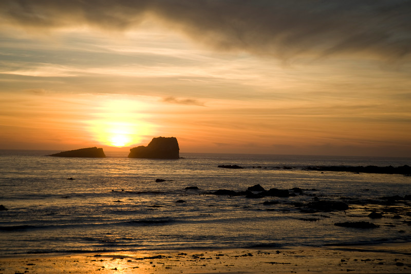 SUNSET AT PIEDRAS BLANCAS