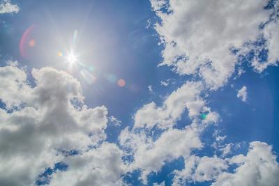 Sunny day in Brea, California
