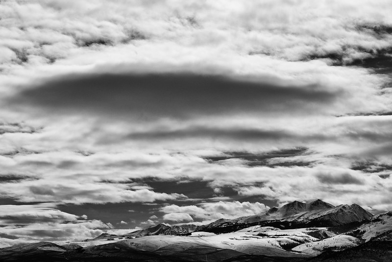 Clouds Above Crater Crest, Mono County, CA
