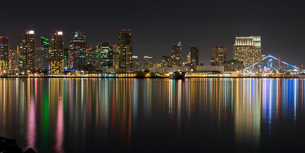 San Diego Night Skyline 1