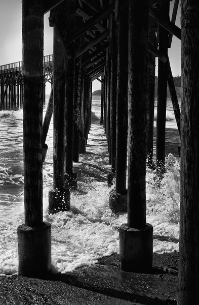 Pier in Black and White