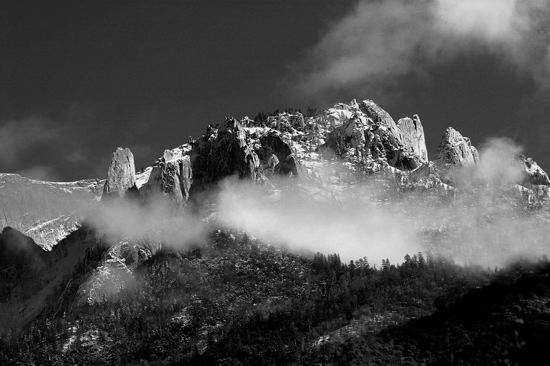 Castle Rock in B/W