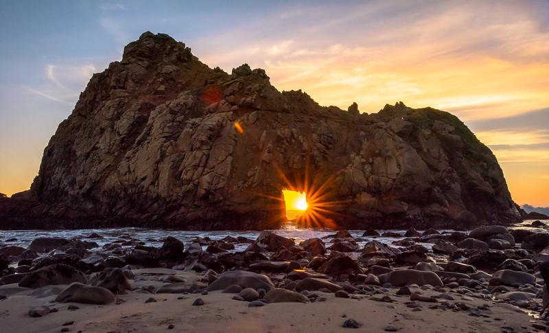 Sunburst Through the  Keyhole