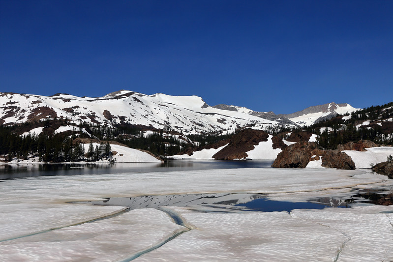Ice Sheets, Ellery Lake, Mono County, CA