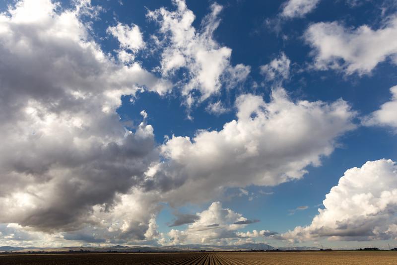 Autumn Rain Clouds, Union Island, CA