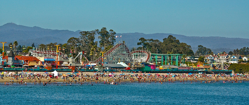 WARM DAY @ THE SANTA CRUZ BEACH BOARDWALK