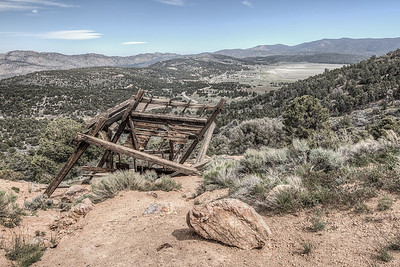 Old mine on Holcomb Valley Road overlooking Big Bear Lake, California